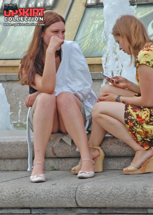 Sneaky white thong wedding upskirt pictures - UpskirtCollection.com::Peek free gallery of pretty girls upskirts::