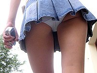 Street upskirt voyeur takes sexy pictures  Close up hairy pussy sitting upskirt pics - UpskirtCollection Upskirt Collection