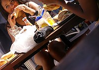 Viewing up skirts under table, hot view!  Viewing up skirts under table, hot view! in voyeur upskirt free photo gallery from UpskirtCollection Upskirt Collection
